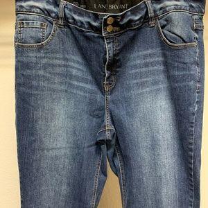 LANE BRYANT Jeans Dark Wash Stretch High Rise Boot